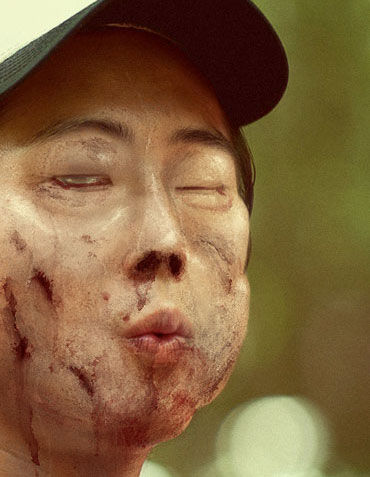 Protagonistas The Walking Dead convertidos en zombis
